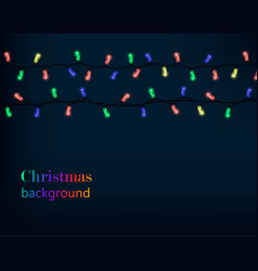 colored christmas lights vector image