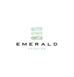 E letter emerald diamond logo icon vector