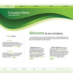 editable website template vector image