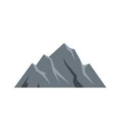 Extreme mountain icon flat style vector