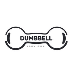 graphic logo template with horizontal iron cast vector image