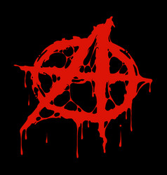 Grungy anarchy symbol vector