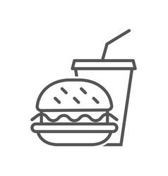 hamburger and soda take away fast food vector image