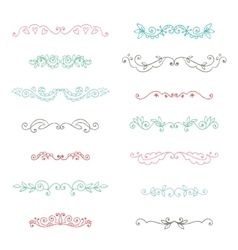 Hand drawn page decorations collection vector image