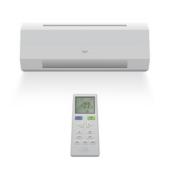 Home window air conditioner system temperature vector