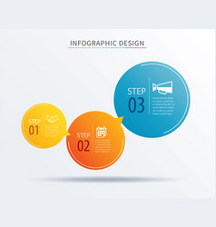 Infographics circle number 3 step template vector