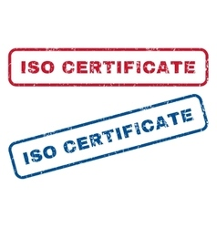 ISO Certificate Rubber Stamps vector