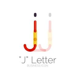 J letter logo minimal line design vector image