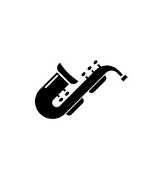 jazz saxophone black icon sign on isolated vector image
