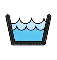 laundry water indicator icon vector image