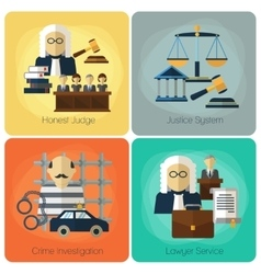 Legal services law and order justice flat vector