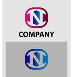 Letter N logo symbol icon vector