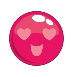 Love face cartoon expression icon graphic vector