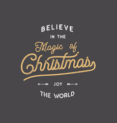 merry christmas lettering let it snow typography vector image