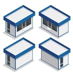 Mini market exterior flat 3d isometric vector