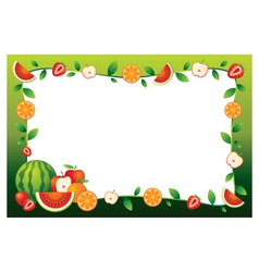 Mixed Fruits Border Frame vector image