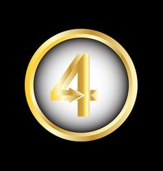 number 4 symbol vector image