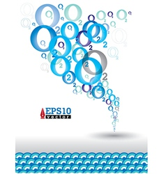 O2 water vector image