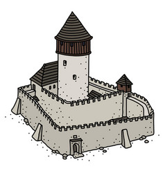Old gothic stone castle vector
