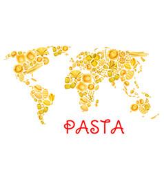 pasta italian macaroni world poster vector image
