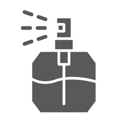 Perfume glyph icon fragrance and cosmetic aroma vector