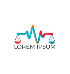 pulse and balance logo design vector image