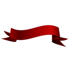 Realistic shiny red ribbon isolated on white vector