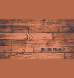 Rhode island map brand vector