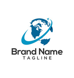 round world logo template vector image