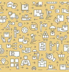seamless color patterns on theme logistics vector image