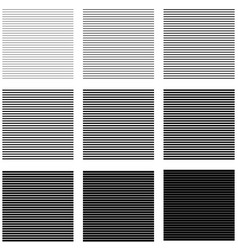Set backgrounds horizontal lines and stripes with vector