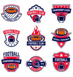 Set of american football emblems design element vector