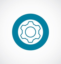 Settings icon bold blue circle border vector
