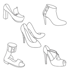 Shoes paint vector