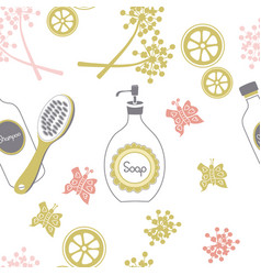 Shower time-spa in the countryseamless repeat vector