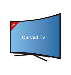 smart tv curved-55 inches vector image