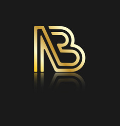 Stylized lowercase letters n and b vector