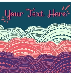 Three Waves Horizontal Pink vector image