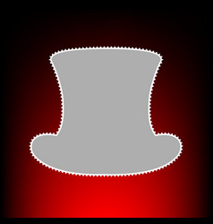 top hat style on vector image