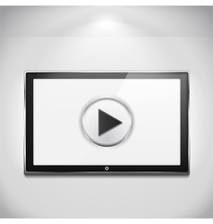 TV with Play Button vector image