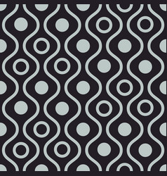 wavy dark seamless pattern vector image
