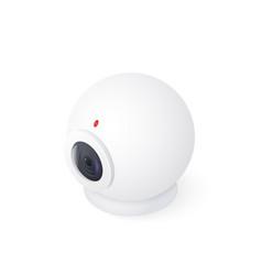 web cam isolated on white background isometric vector image