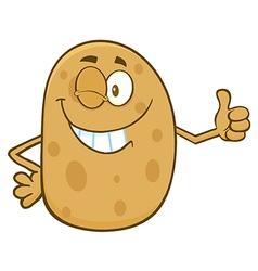 Winking Potato Cartoon vector image