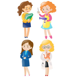 women doing different kinds of jobs vector image