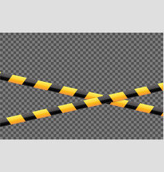 yellow-black stripped tape vector image