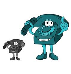 Cartoon telephone vector image vector image