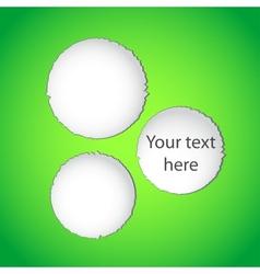 Green torn paper web design vector image vector image