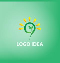 logo idea conceptidea vector image vector image