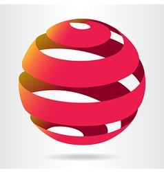 Ribbon ball sphere vector image vector image