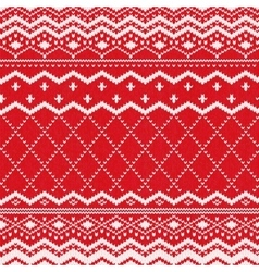 Scandinavian knitted pattern or nordic ornament vector image
